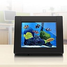 Aluratek ADEQ108F eQuarium 8-Inch Digital Aquarium Picture Frame (Black)
