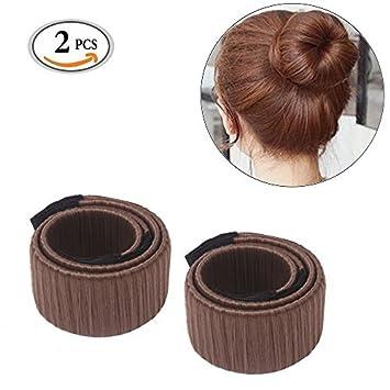 Damen Mädchen Twist Haar Brötchen Maker Hair Styling Tool Donut Hair Bun