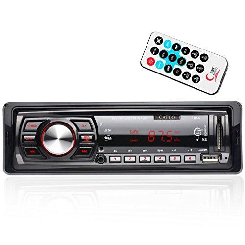 CATUO Car Audio Stereo Receiver In-dash Single DIN MP3 Player/USB/SD/AUX/FM Radio, Wireless Remote Control by CATUO