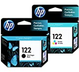 HP 122 Ink Cartridges Combo ( Black + TRI-COLOR ) Original Ink Cartridge Deskjet - 2 Pack