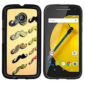 TaiTech/textura de madera carcasa rígida - garrafón bidireccionalmente Motorola Moto E2 E2nd beiges - Gen