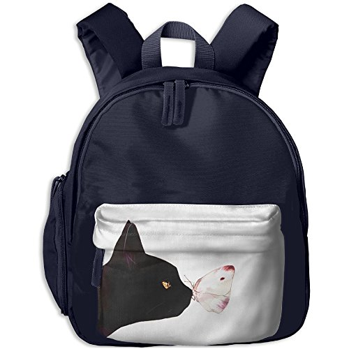 WU-RONGRONG WU Butterfly Stay In Black Cat Nose Baby Boys Girls Toddler Preschool Backpack Children Backpacks Bags