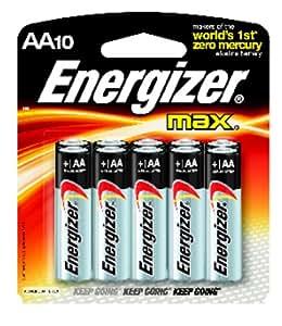 Energizer Max AA Alkaline Batteries (8+2 Value Pack)