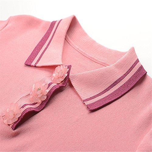 Corta Holgada Camiseta Verano Rayas Rosa Buscar Primavera De Y A Mujer Manga El Xmy Floral 7YnH4q