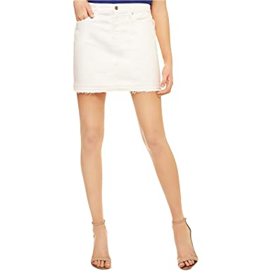 f85dafeef Sanctuary Womens Peyton Denim Frayed Hem Mini Skirt White 24 at Amazon  Women's Clothing store: