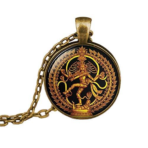 Dancing Shiva pendant, Nataraja necklace, Statue of Dancing Shiva, cosmic dancer, Shiva Nataraja, Buddhist jewelry, Spiritual Jewelry, (Bronze Dance Statues)