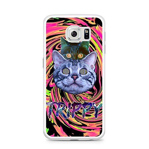 Samsung Galaxy Case Trippy Acid Illusion Cats For Samsung Galaxy S7 EDGE Plastic White (Ships from California from Casematic) ()