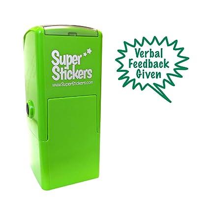 /verde Soluciones de estampador estampador pre Inked dise/ño de estrella sonriente/