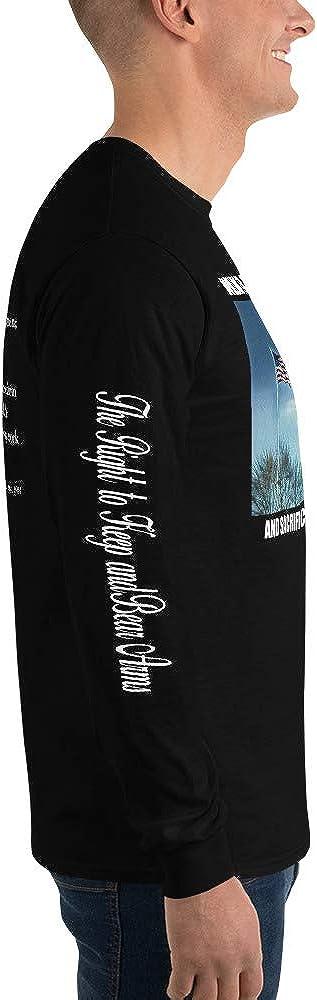 Men/'s Long Sleeve Shirt Slate Tint Modern Minuteman Stand2A - up to 5X Second Amendment