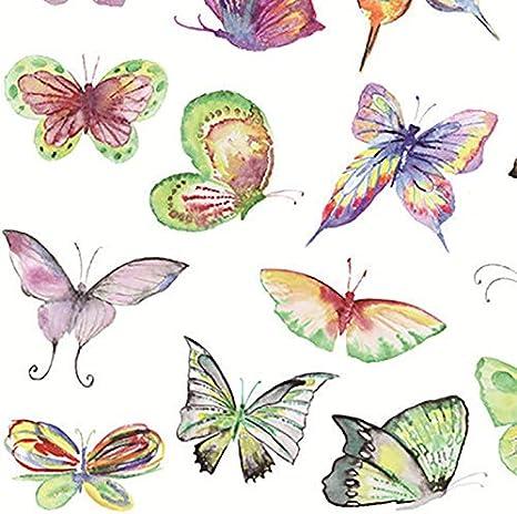 1/Hojas 14.8/cm * 21/cm Topdo Mariposa Pintado a Mano Diario de Cuaderno Adhesivo Pegatina Pegatina Adhesivo de Navidad Papel 14.8cm*21cm Papillon 04