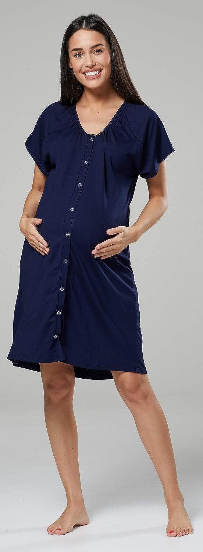 Zeta Ville para Mujer Set Camis/ón Bata Premam/á Embarazo Lactancia 1165