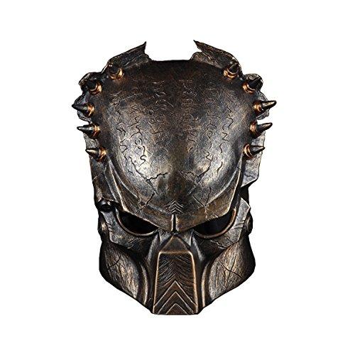 YUFENG Holloween Mask Predator Warrior Face Protect Mask for Halloween Masquerade Cosplay (Iron warrior mask) -