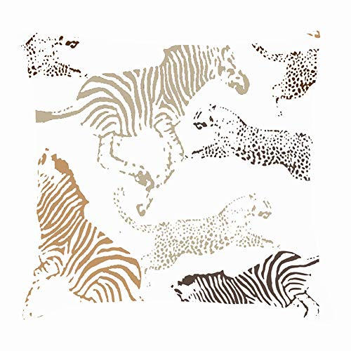 Traditional African Clip Art Throw Pillow Cushion Cover Case 18x18 Inch 45x45cm]()