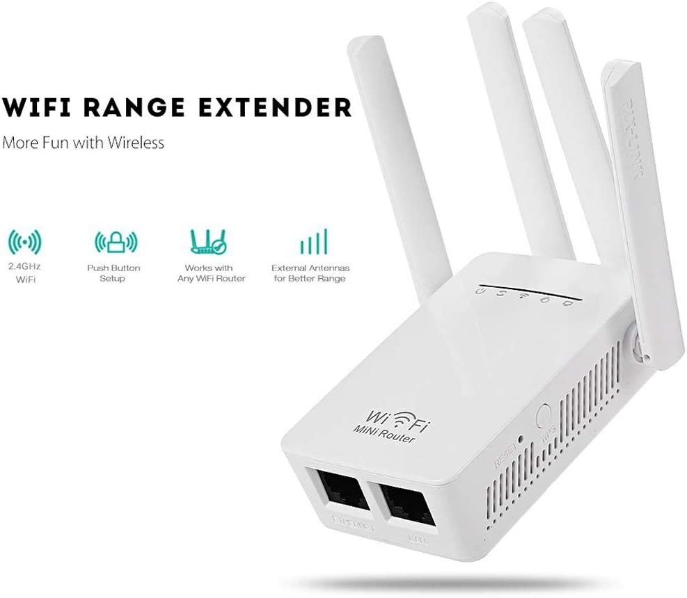 MC.PIG WiFi Signal Amplifier-4 Antena Repetidor inalámbrico ...