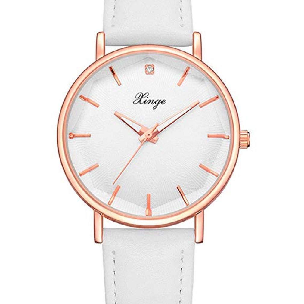 Scpink Relojes de Cuarzo para Mujer, Relojes de Dama de Moda analógicos Simples Relojes Femeninos Relojes Casuales para Mujeres, Esfera Redonda Estuche ...