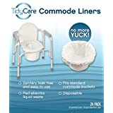 TidyCare Commode Liners – Convenience Pack XL - 24 commode liners and 24 super-absorbent pads