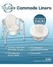 TidyCare Hygienebeutel - Komfortpack XL - (24 Packungen) - Toilettenstuhl für Erwachsene - Beutel für Toiletteneimer - universelle Passform