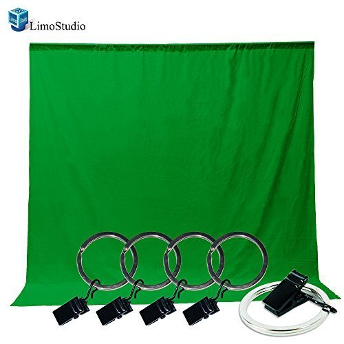 LimoStudio Photo Video Photography Studio 5x10ft Green Muslin Backdrop Background Screen with 5x Backdrop Holder Kit AGG1338