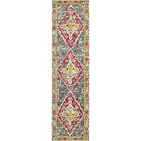 Unique Loom Arte Collection Multi 3 x 10 Runner Area Rug (2 7 x 10)