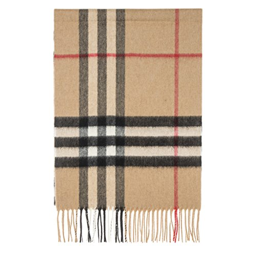Burberry Unisex Classic Check Cashmere Scarf Camel by BURBERRY