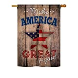Ornament Collection H191188 Make America Again Vertical House Flag, 28″ x 40″ inch, Multi-Color For Sale