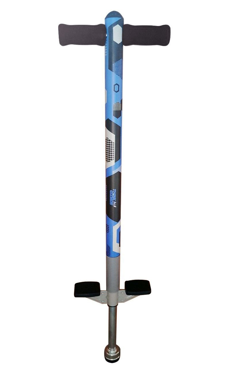 Pogo Stick for Kids - Aero Advantage - for Kids 5,6,7,8,9,10 Years Old & Up to 90lbs (36kgs) - Awesome Fun Quality Pogo Stick for Boys & Girls by ThinkGizmos (Blue & Black) by Think Gizmos