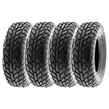 SunF Sport Race Replacement ALL TERRAIN ATV UTV 6 Ply Tires 25x8-12 25x8x12 Tubeless A021, [Set of 4]