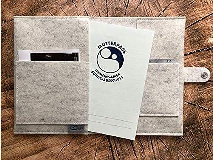mit extra Innenf/ächern und Verschluss Made in Germany Mutterpassh/ülleHasenliebe Deluxe aus 100/% Wollfilz