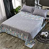 Hllhpc Waterproof bed sheet printing non-slip children's bedspread