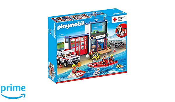 Playmobil 9533 DRK Mega Set Salvavidas Comisaría: Amazon.es: Juguetes y juegos