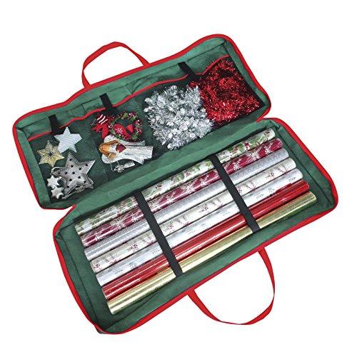 Christmas Corner Aufbewahrungstasche für Geschenkpapierrollen, 82x34x13cm, für Papier/Etiketten/Schleifen