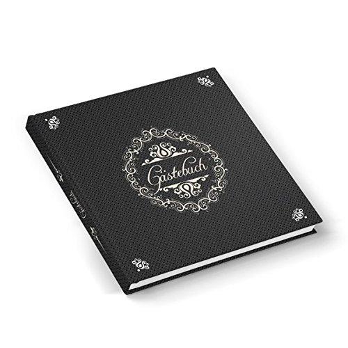 Gästebuch in edlem grau (Hardcover 21x21 cm, Blankoseiten): Ideal für jedes Fest und eine tolle Erinnerung!