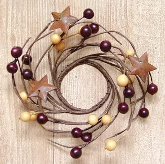 "11/"" Rusty Metal Star Wreath Wired Wreath w Multi Size Rusty Stars Rustic Decor"