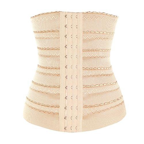 LTD Waist Tummy Slimming Breathable Shapewear Belt Shaper Corset Girdle Apricot