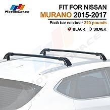 Fit for Nissan Murano 2015-2017 Lockable Baggage Luggage Racks Roof Racks Rail Cross Bar Crossbar-Black