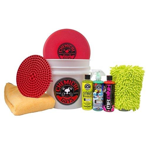 Wash Car Kit (Chemical Guys HOL_128 Best Wash/Dry Kit (8 Items))