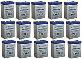 PS-640 SLA 6 Volt 4.5 Ah Capacity F1 Terminal - 15 Pack