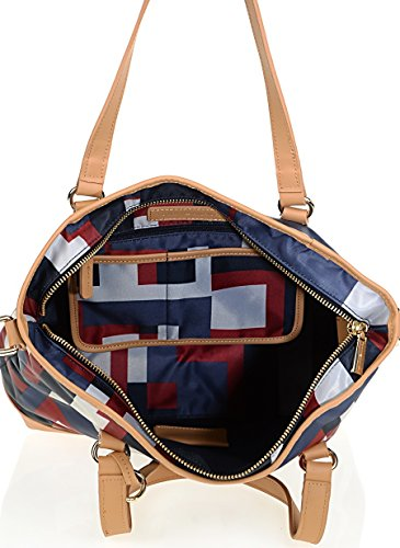 para tela Blau 268 Tommy mujer Bolso de Multicolor Multi Hilfiger xwx7Rn4Z