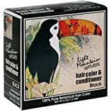 Light Mountain Natural Hair Color & Conditioner, Black, 4 oz (113 g) (Pack of 3)