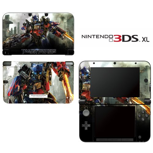 Transformers Optimus Prime Autobots Decorative Video Game Decal Cover Skin Protector for Nintendo 3DS XL
