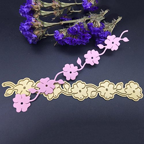 alignmentpai Flower Borderline Cutting Dies, DIY Stencils Template Embossing for Card Scrapbooking Craft