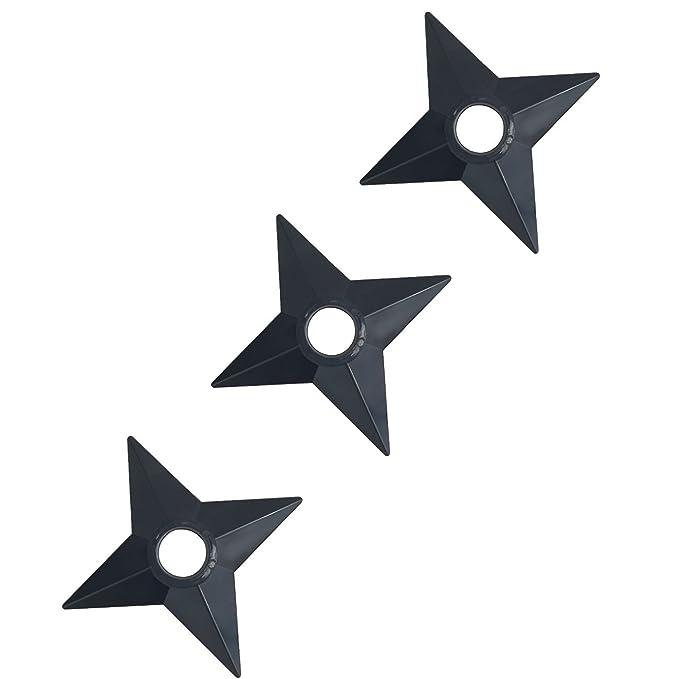 Katara - Naruto Ninja Armas Shuriken y Kunai Manga Accesorios de Disfraz - Juego de 3 Estrellas de plástico para Cosplay o Carnaval