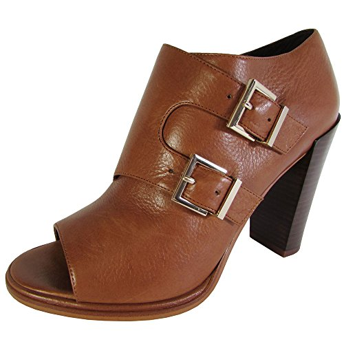 Kenneth Cole New York Women's Simone Open Toe Bootie,Luggage/Tan Leather,US 7.5 (Kenneth Cole New York Luggage)