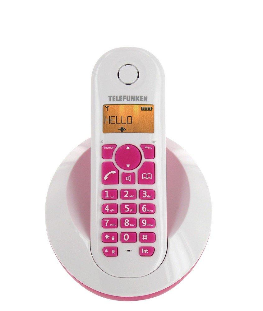 Téléphone fixe TELEFUNKEN TB201 ROSE SOLO