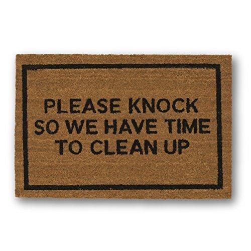 clever-doormats-cd673-please-knock-so-we-have-time-to-clean-up-doormat-brown-20x30