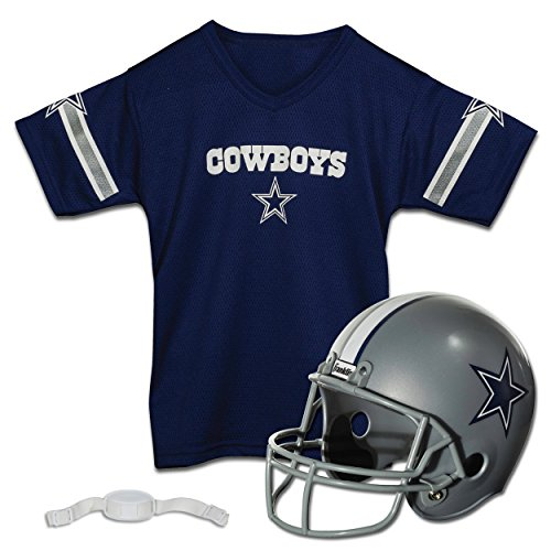 Franklin Sports NFL Dallas Cowboys Replica Youth Helmet and Jersey Set (Dallas Cowboy Football Costume)