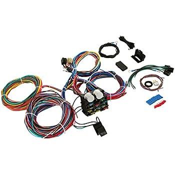 amazon com wisamic 10 circuit basic wiring harness fuse box street rh amazon com Street Rod Wiring Harness for LS1 Universal Street Rod Wiring Harness