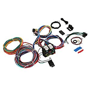 hot rod circuit universal wiring harness 8 amazon com bestequip 12 standard    circuit       universal       hot     amazon com bestequip 12 standard    circuit       universal       hot