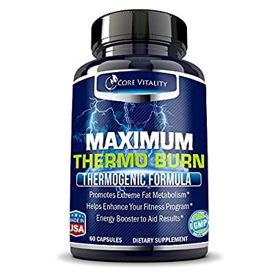 Best Thermogenic Fat Burner Supplement for Men and Women - Extreme Fat Burning Solution - Boosts Metabolism & Energy - Shed Unwanted Body Fat and Lose Weight Fast - 30 Day Supply
