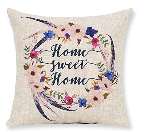 Lyn Cotton Linen Square Throw Pillow Case Decorative Cushion Cover Pillowcase for Sofa 18